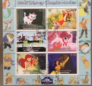 Mauritania 2003 M/S Walt Disney Cartoon Animation Winnie the Pooh Stamps CTO (2)