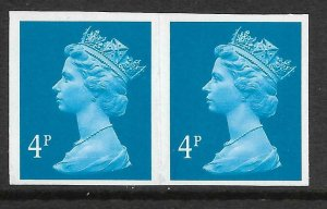 Sg X933 4p Decimal Machin imperforate pair UNMOUNTED MINT