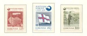 Faroe Islands Sc 21-3 1976 Inependent Post stamp set mint NH