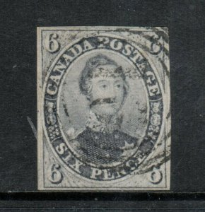 Canada #5d Very Fine Used With 4 Ring 16 Cancel **With Certificate**