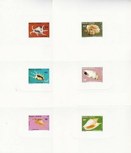 WALLIS AND FUTUNA 1984 Shells - set of 6 large die proofs...................3920