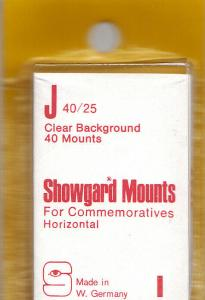 SHOWGARD CLEAR MOUNTS J 40/25 (40) RETAIL PRICE $3.95