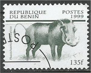 BENIN 1999, used 135fr, Wildlife Scott 1110