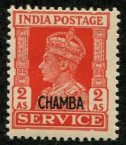India - Chamba SC# O62 (SG# O79) King George VI, 2a MNH