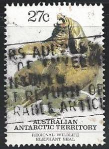 Australia Antarctic Territory #L55C 27c Wildlife - Elephant Seals