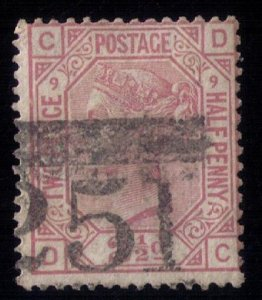 Great Britain Sc #67 Used PL9 F-VF