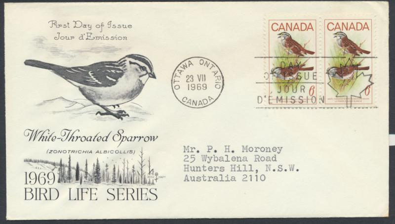 FDC SG 638 SC# 496 SPECIAL - please read details - Birds