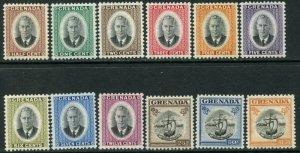 GRENADA Sc#151-162 SG172-183 1951 KGVI Decimal Part Set to $1.50 OG Mint Hinged