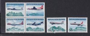 Papua New Guinea # 308a, 309-310, Aircraft, NH, 1/2 Cat.
