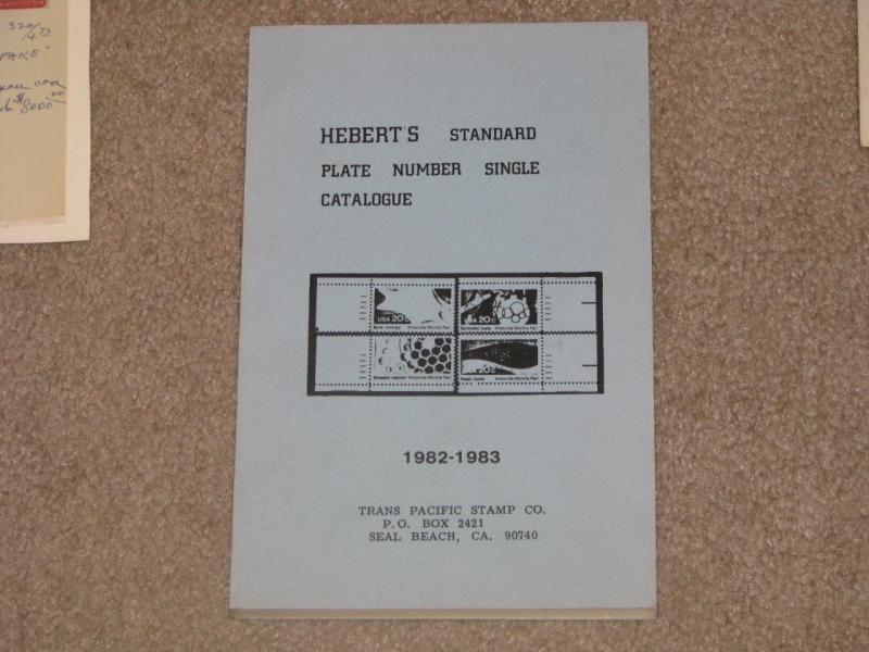 Heberts Standard Plate Number Single Catalog, copyright 1982