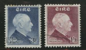 Ireland Scott 157-8 used 1957 Redmond set wmk 262 CV$10
