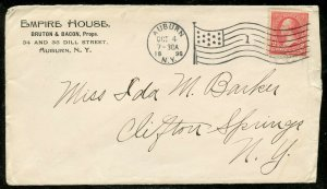 U.S. Scott 279B On 1st Class Mail 2-sided Empire House/Smith Typewriter Ad Cover
