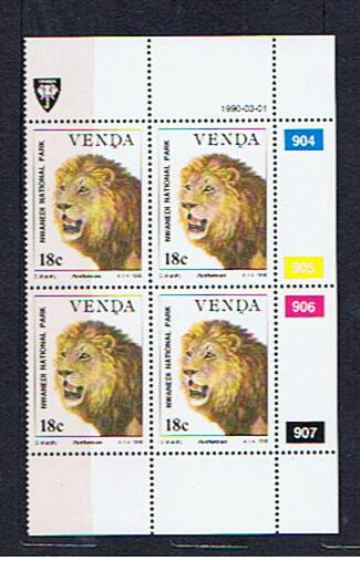 LION BLOCK OF 4 UNMOUNTED MINT VENDA