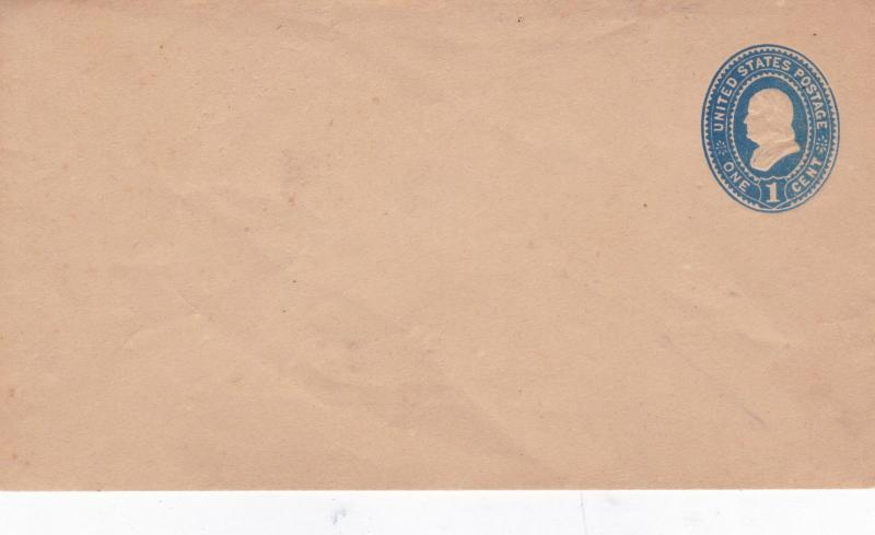 United States 1c Benjamin Franklin Prepaid Envelope Unused VGC