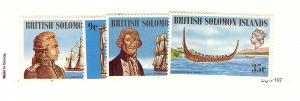 Solomon Islands, 250-53, Explorer Type Singles, MNH