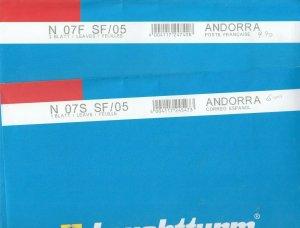 Lighthouse Leuchtturm Supplement N07S & 07F French & Spanish SF 05 Andorra