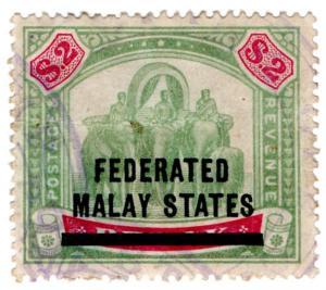 (I.B) Federated Malaya States Revenue : Duty Stamp $2