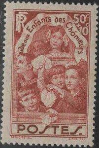 FRANCE Scott B46 MH* 1936 semi postal stamp