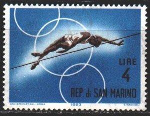 San Marino. 1963. 785 from the series. High jump. MNH.