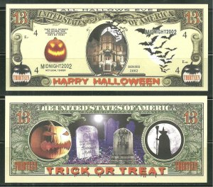 Happy Halloween Novelty Bill Sheet