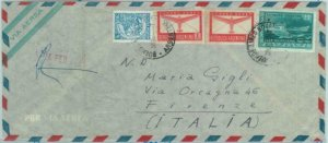 84238 -  ARGENTINA - POSTAL HISTORY -  REGISTERED Airmail COVER to ITALY 1952