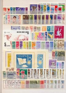 ALBANIA 1960s Space Flowers Olympics Sheets Sets MNH(Appx 150)(St 578