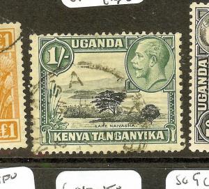KENYA UGANDA TANGANYIKA  (P0910B) KGV 1/-  SG118A GOOD PERF  VFU
