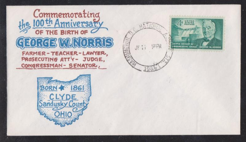 George W. Norris Special Cover and Stamp Dealer Ad