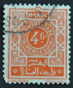 DYNAMITE Stamps: French Morocco Scott #J52 – USED