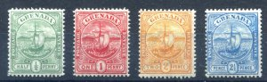 Grenada 1906. Badge of Colony set of 4. Mint. LH. SG77/80.