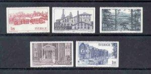Sweden Sc 1326-30 1980 Halsingland Province stamp set mint NH