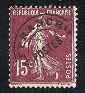 France #165 15C Sower, Red Brown Precancel Stamp used F