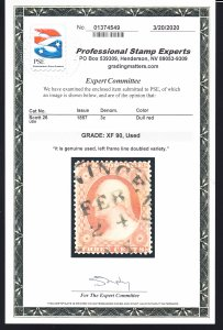 #26 Graded XF 90 used Left frame line doubled Clean cert!