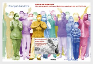 The Stamps Of Andorra (Spain) 2021 Are A Tribute To All Efforts To Combat Covid-