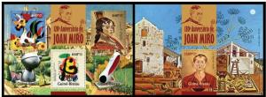 Guinea Bissau 2013 art painting Joan Miro famous people  klb + s/s MNH