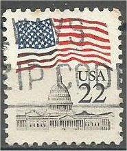 UNITED STATES, 1985, used 20c Flag Scott 2114