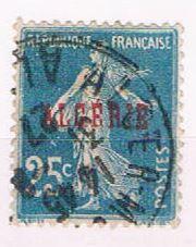 Algeria 13 Used France overprint 1924 (A0395)