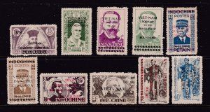 Vietnam a small lot of earlies (overprinted)