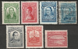 Colombia 1917 Sc 340-6 partial set most MH*