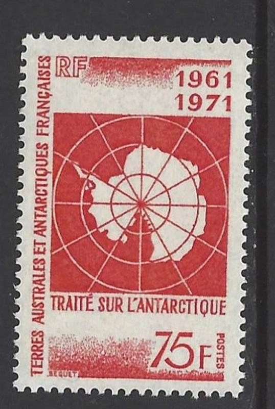 FSAT TAAF 1971 Map of Antarctica VF MNH (45)