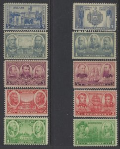 United States, Scott #785-794; Army and Navy Issues, MNH