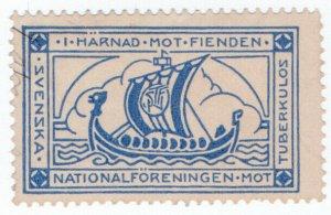 (I.B) Sweden Cinderella : TB Charity Stamp (Longboat)