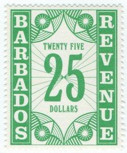 (I.B) Barbados Revenue : Duty Stamp $25
