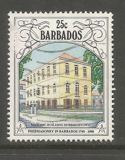 BARBADOS 803 USED, FREEMASONRY IN BARBADOS, 250TH ANNIV.