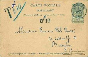 14075 - BELGIUM - POSTAL HISTORY - POSTAL STATIONERY CARD to SPAIN - TAXED! 1904