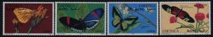 Eritrea 286-9 MNH Butterflies, Flowers