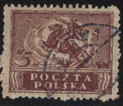 Poland  Scott 108 Used 1919 stamp