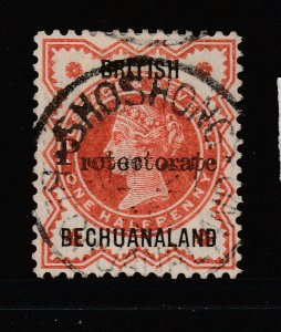 Bechuanaland a 0,5d QV with Protectorate overprint good.fine used