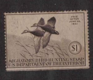 RW7 Federal Duck Stamp 1940 MH.  #02 RW7e
