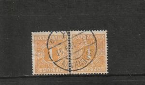 Denmark  Scott#  J9  Used Pair